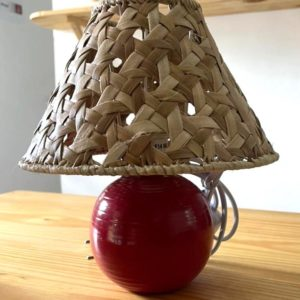 LAMPE EN VACOA Rouge